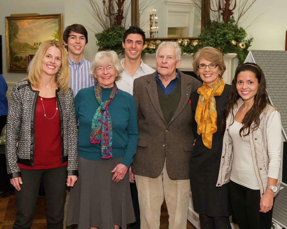 Louisa Stone, second from left in the front row, stands with her family. She is the first recipient of the Greenwich Land Trust lifetime achievement award. Photo: Contributed Photo, Kyle P. Norton/Contributed Photo / Greenwich Time Contributed