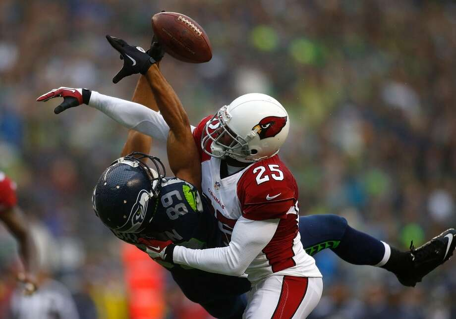 """Greats and goats: Seattle falls to Arizona at homeThe Seahawks did not look themselves on Sunday when they welcomes their division-foe Cardinals into CenturyLink Field. It was supposed to be a game in which Seattle would clinch the NFC West title, snag home-field advantage throughout the playoffs and extend their home winning streak to 15. But Arizona played the spoiler, shocking the Hawks with suffocating defense and handing Russell Wilson his first-ever loss at home.Who played well and who played poorly Sunday? Well, we've made our choices. Click through the gallery to see who we thought were Seattle's """"greats"""" and """"goats"""" in the 17-10 loss at the CLink. Then, vote in the polls below. And if your choice isn't there, please leave a comment with your thoughts! Photo: Jonathan Ferrey, Getty Images"""