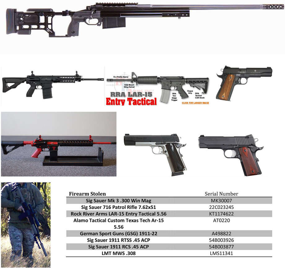 The stolen guns are similar to those pictured. An ATF report said Texas was No. 2 in the nation in 2012 for guns reported lost or stolen by federally licensed firearms dealers.