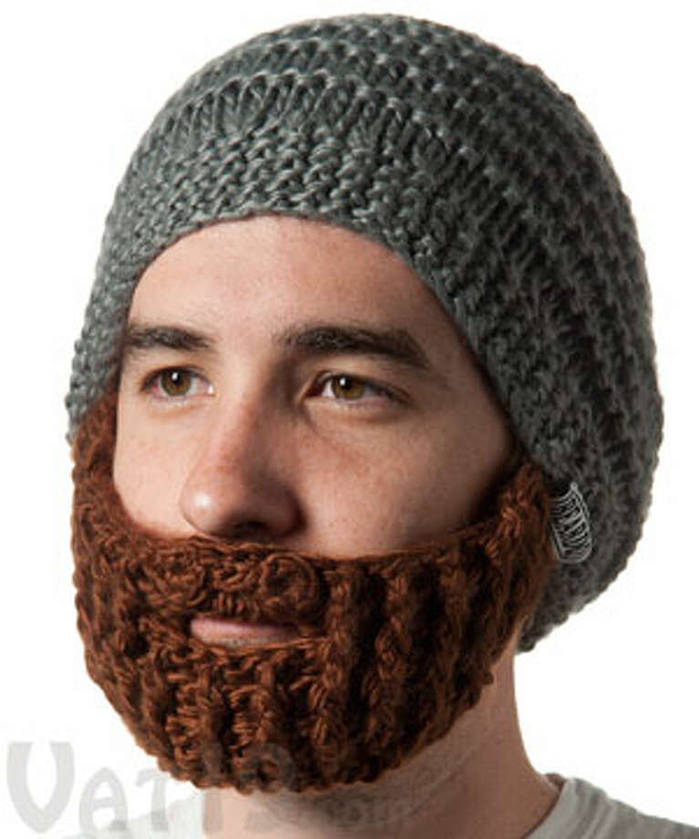 "For $34.99 your loved one can look like a baseball player from Boston. This 100% acrylic yarn ""beanie with detachable, foldaway beard,"" comes in a variety of colors and is available online for purchase from Vat19.com Photo: New Visions"