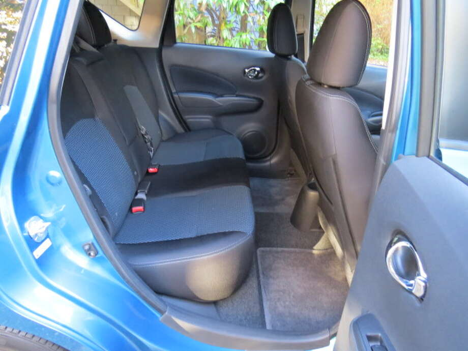 Typical rear seats in a small car -- comfy enough for a ride across town, but don't try many long trips with rear seat passengers.