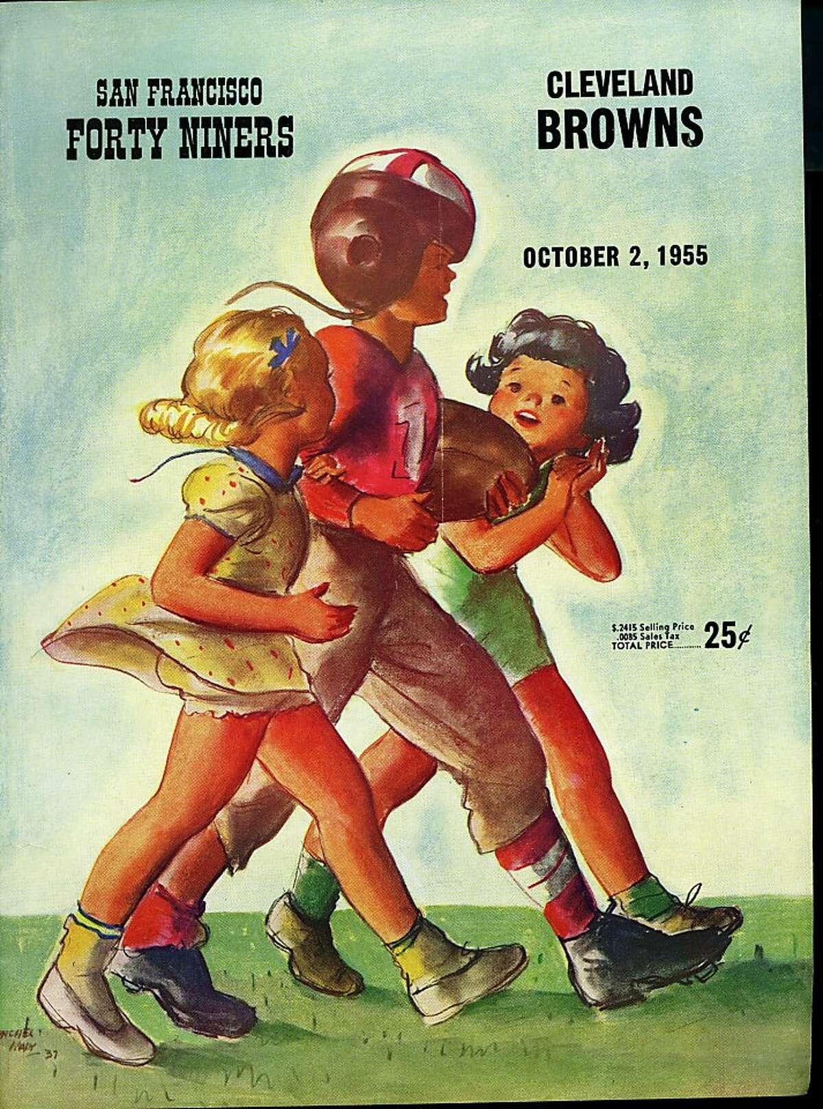 San Francisco 49ers official game programs 1955 courtesy Don Figone