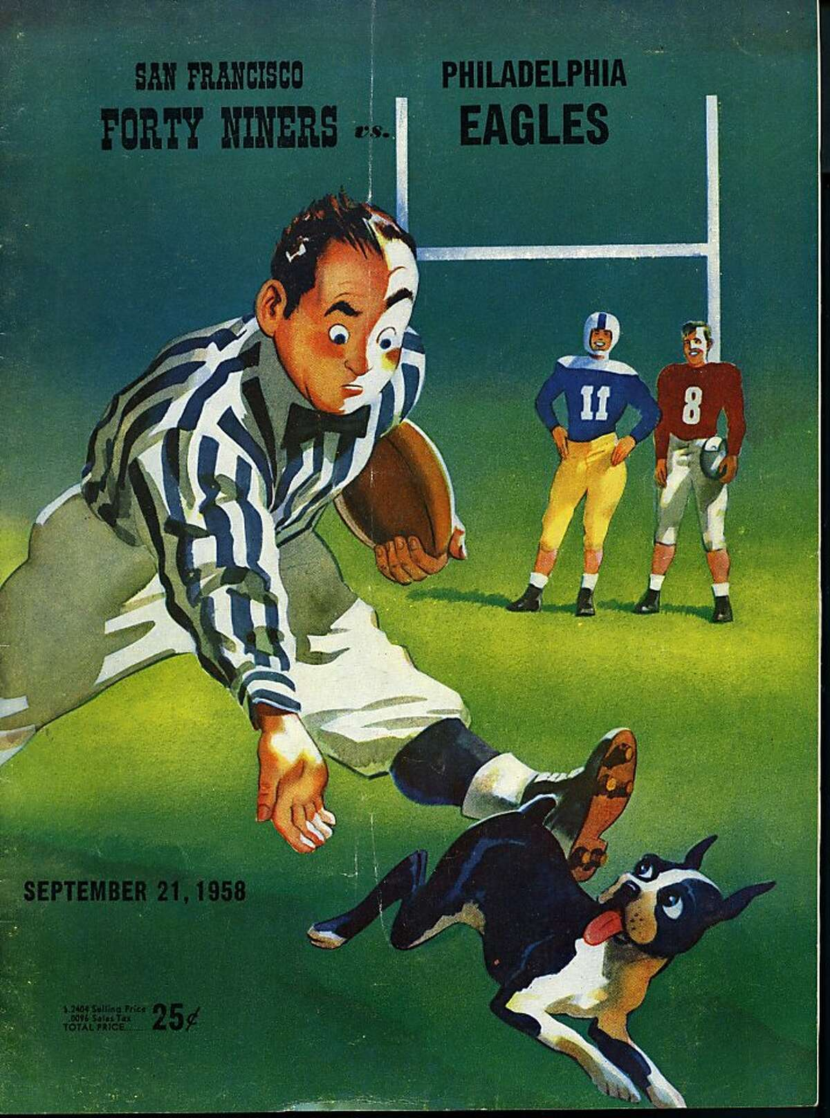 San Francisco 49ers official game programs 1958 courtesy Don Figone