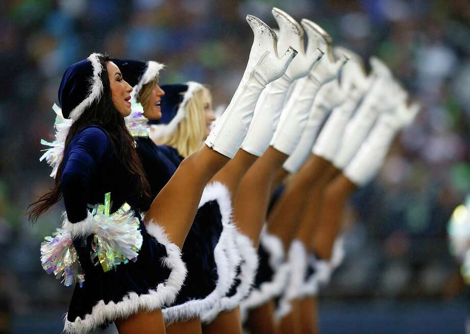 Sea Gals cheerleaders perform during the Dec. 22, 2013 game against the Arizona Cardinals at CenturyLink Field in Seattle. (Photo by Jonathan Ferrey/Getty Images) Photo: Jonathan Ferrey, Ap/getty / 2013 Getty Images