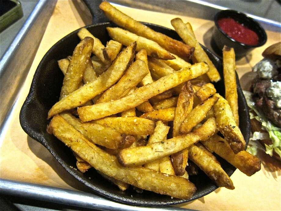 French fries at Fielding's Wood Grill in The Woodlands. Photo: Alison Cook