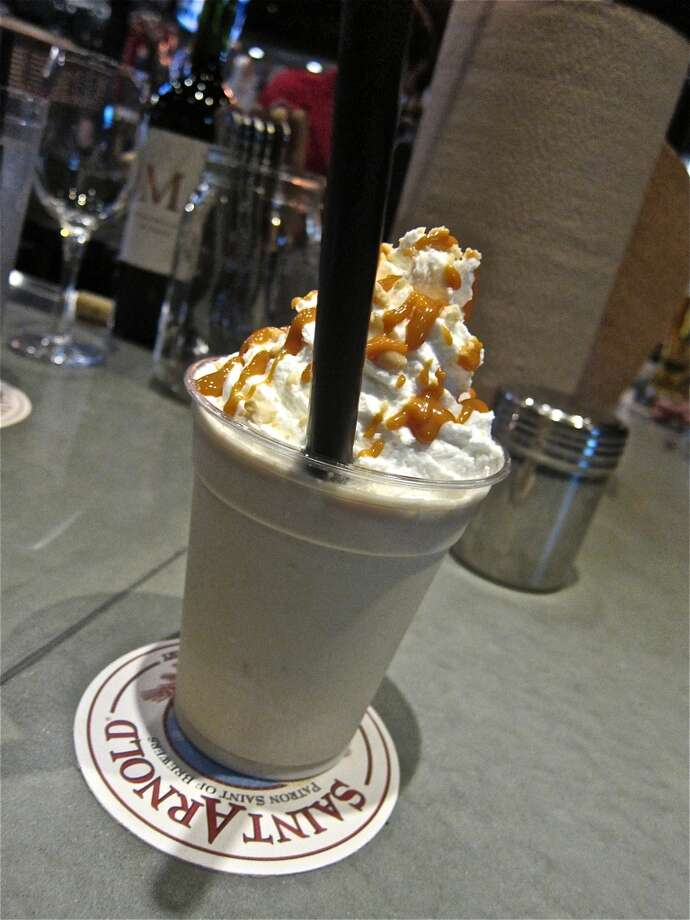 Caramel shake at Fielding's Wood Grill in The Woodlands. Photo: Alison Cook