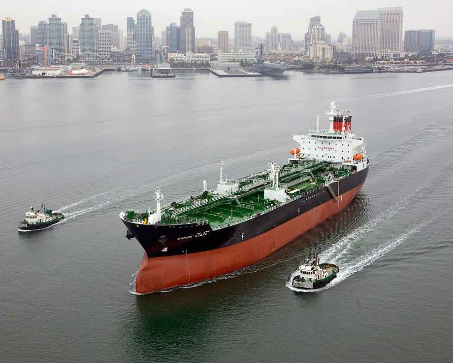 The Empire State tanker is one of five that Kinder Morgan plans to purchase from American Petroleum Tankers, part of a $1 billion deal that also includes four newly built vessels from State Class Tankers. Photo: American Petroleum Tankers