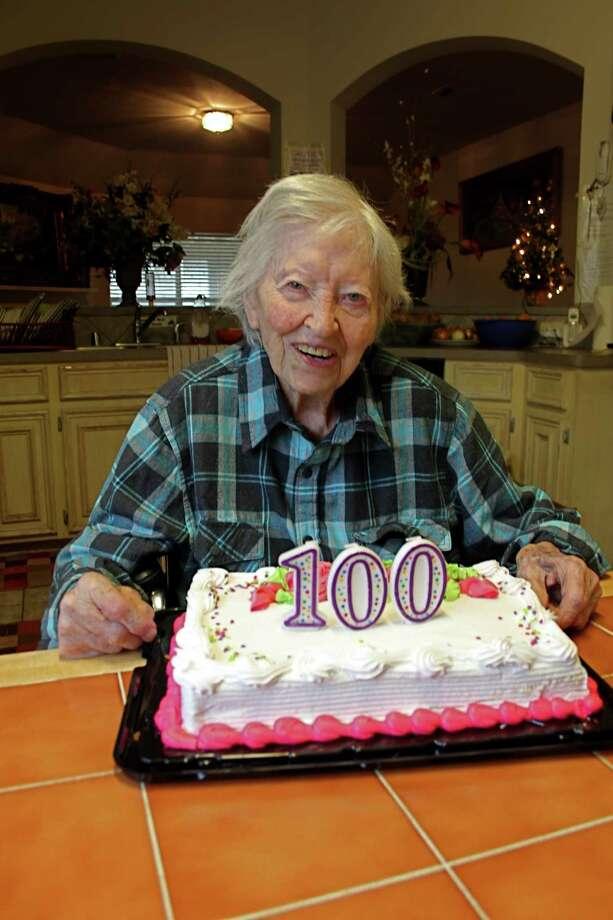 Elizabeth Stevens became a centenarian on Christmas Eve.Elizabeth Stevens became a centenarian on Christmas Eve. Photo: Suzanne Rehak, Freelance Photographer