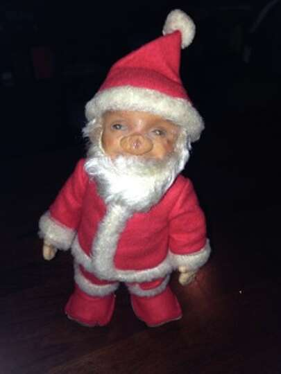 Sue Benson, Cypress: This special Santa was given to me for my 3rd birthday (December birthday!)  I