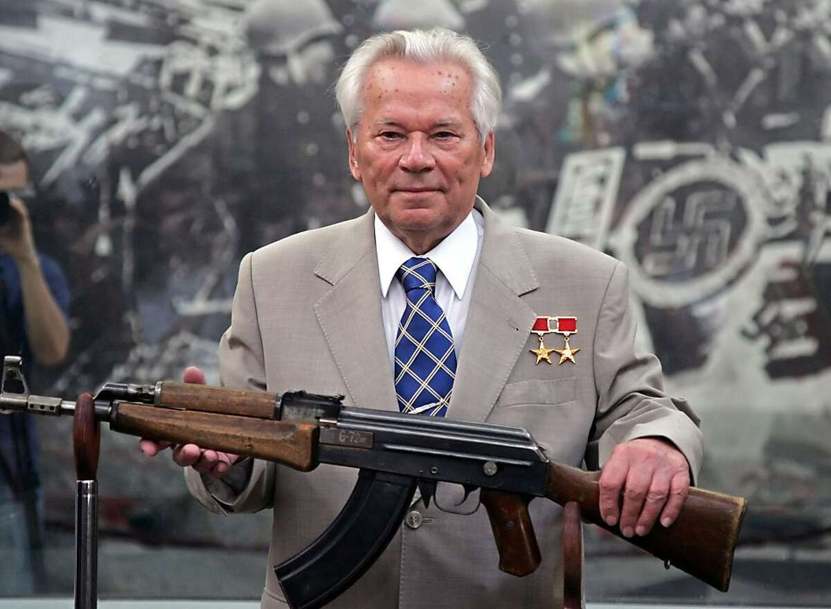 Legendary Russian gun-maker Mikhail Kalashnikov attends a celebration ceremony for the 60th anniversary of the introduction of the AK-47 Kalashnikov assault rifle, July 6, 2007 in Moscow, Russia. (PhotoXpress/Zuma Press/MCT)