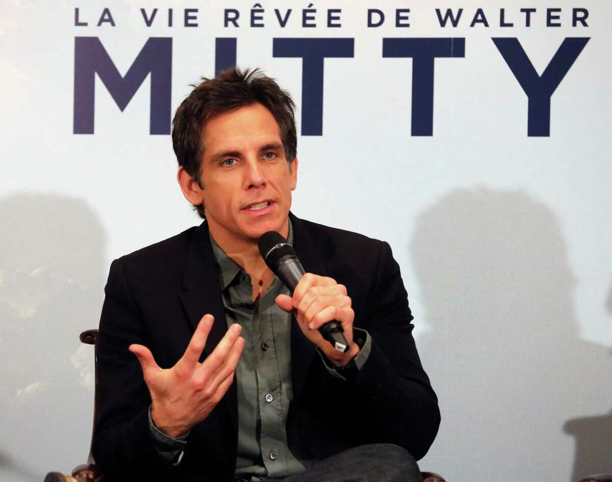 US film director and actor Ben Stiller addresses reporters during a press conference in Paris, Tuesday Dec. 10, 2013, at the French screening of his new movie The Secret Life of Walter Mitty. (AP Photo/Remy de la Mauviniere) ORG XMIT: DLM105