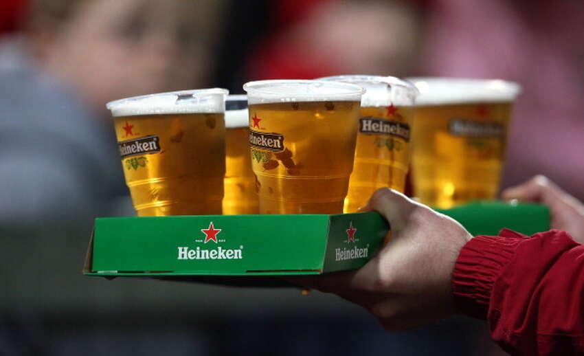 Portland: Heineken Percentage of bars/restaurants with beer: 33 percent