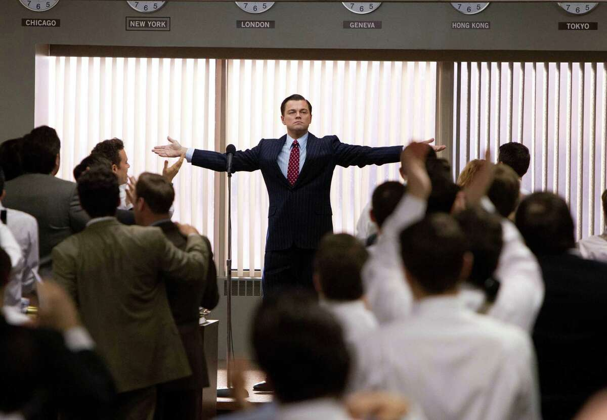 This film image released by Paramount Pictures shows Leonardo DiCaprio as Jordan Belfort in a scene from