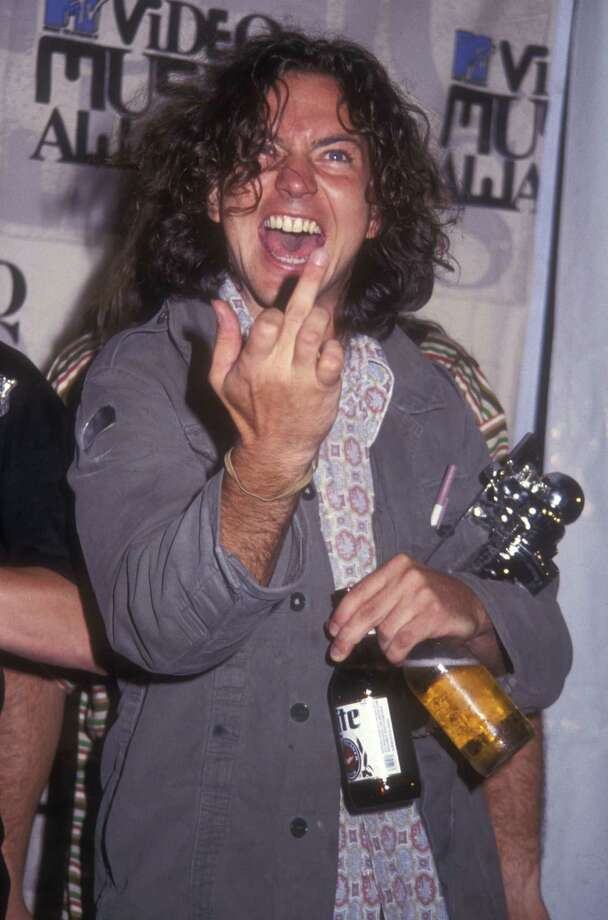 1993: Vedder waves hello. Photo: Barry King, Getty Images / WireImage
