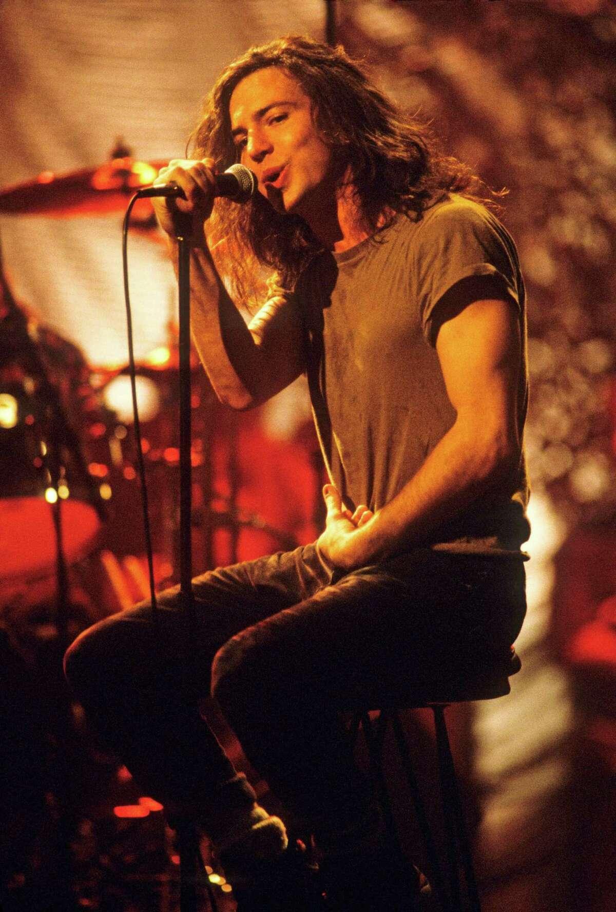 Eddie Vedder Pearl Jam THEN: 1992, Eddie Vedder on MTV's Unplugged.