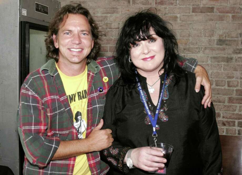2005: Vedder and Ann Wilson of Heart, pictured in Seattle. Photo: Ron Wurzer, Getty Images / FilmMagic