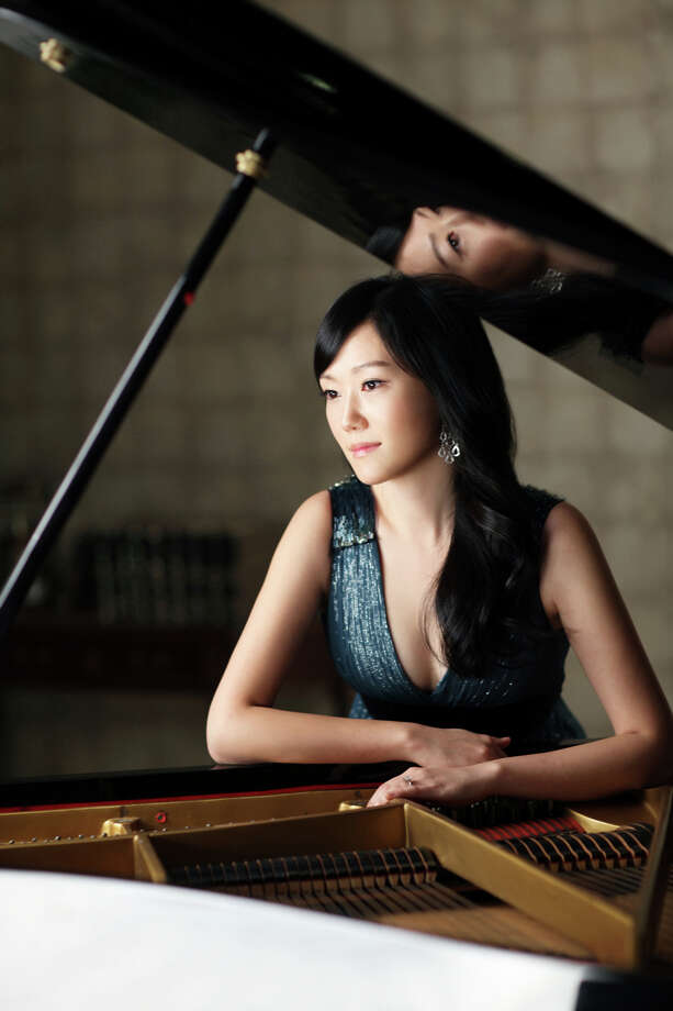 "New York City-based pianist Jeewon Park will join narrator Benjamin Luxon for a free presentation of Francis Poulenc's ""Story of Babar the Elephant,""  on Sunday, Jan. 5, 2014, at 2 p.m. at Greenwich (Conn.) Library. For more information, visit www.greenwichlibrary.org or www.curiosityconcerts.org or call 203-622-7900. Photo: Contributed Photo / Stamford Advocate Contributed"