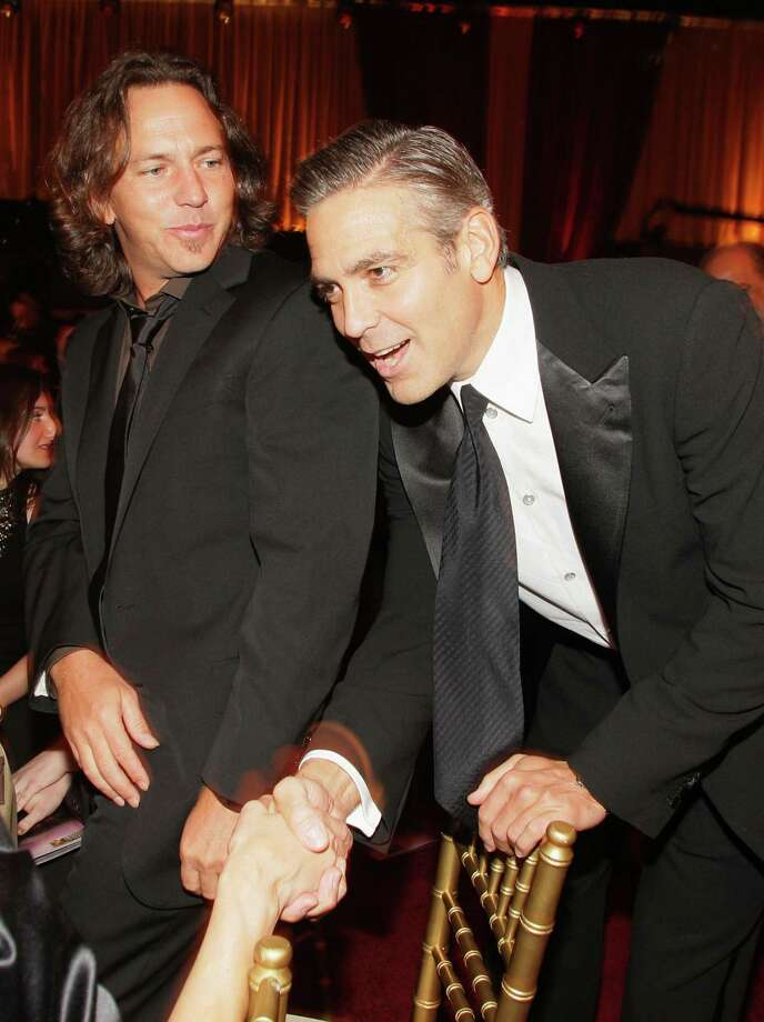 2008: Vedder and George Clooney. Photo: Chris Polk, Getty Images / 2008 Chris Polk