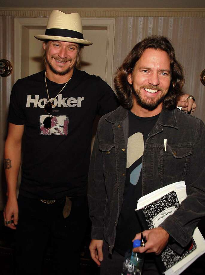 "2006: Vedder receives stage name advice from Kid Rock, then 35 and still known widely as ""Kid."" Photo: Theo Wargo, Getty Images / WireImage"
