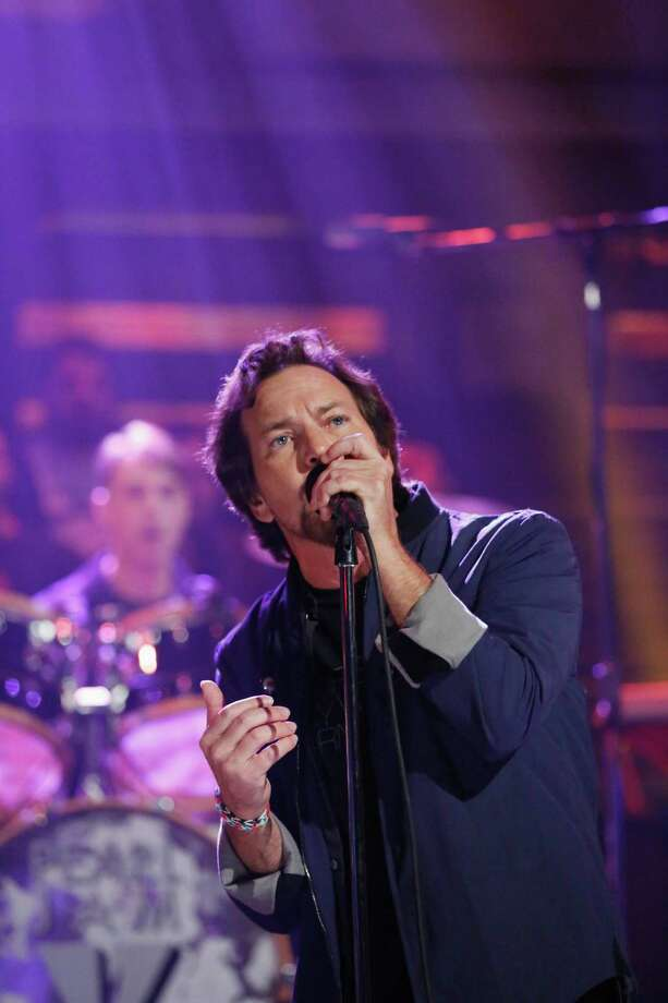 2013: Vedder, cast in an angelic light. Photo: NBC, Getty Images / 2013 NBCUniversal Media, LLC