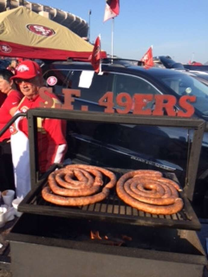 Some first-rate sausage at Candlestick. (Al Saracevic/SF Chronicle)
