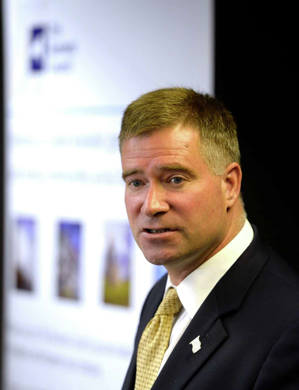 Congressman Chris Gibson speaks at the NY Business Council round table this morning Sept 4, 2013 in Albany, N.Y. ( Skip Dickstein/Times Union )