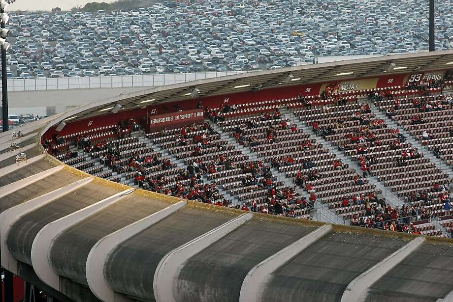 Fans start to fill the seats before the San Francisco 49ers play the Atlanta Falcons during a Monday Night Football game which will be the last regular season game to be held at Candlestick Park in San Francisco, CA, Monday, December 23, 2013. Photo: Michael Short, The Chronicle