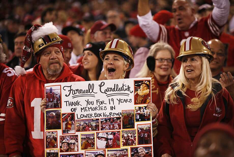 Kacie Flowers, of San Diego, cheers during a 49ers game against the Atlanta Falcons at Candlestick Park on December 23, 2013 in San Francisco, Calif. This will be the last regular-season game at Candlestick Park. Photo: Pete Kiehart, The Chronicle