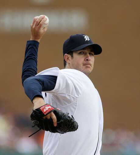 Former Tigers reliever Darin Downs will try to earn a spot in the bullpen, coming in to face lefthanded batters with a five-pitch repertoire. Photo: Carlos Osorio, STF / AP