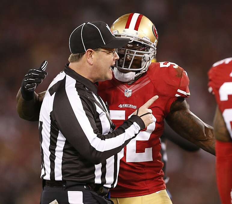 San Francisco 49ers linebacker Patrick Willis (52) argues a call during the 2nd quarter on Monday, Dec. 23, 2013 in San Francisco, Calif. Photo: Beck Diefenbach, For The Chronicle