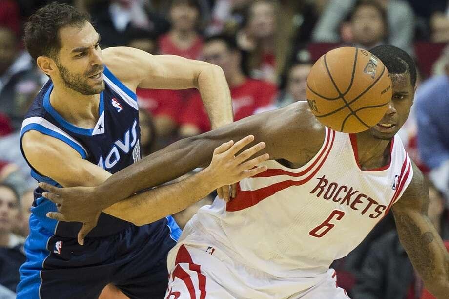 Dec. 23: Mavericks 111, Rockets 104Rockets forward Terrence Jones fights for a loose ball. Photo: Smiley N. Pool, Houston Chronicle