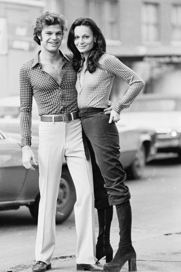 Portrait of of fashion designer Diane von Furstenberg and her then-husband, Austrian prince Egon von Furstenberg in the 1970s. Photo: Susan Wood/Getty Images, Getty Images