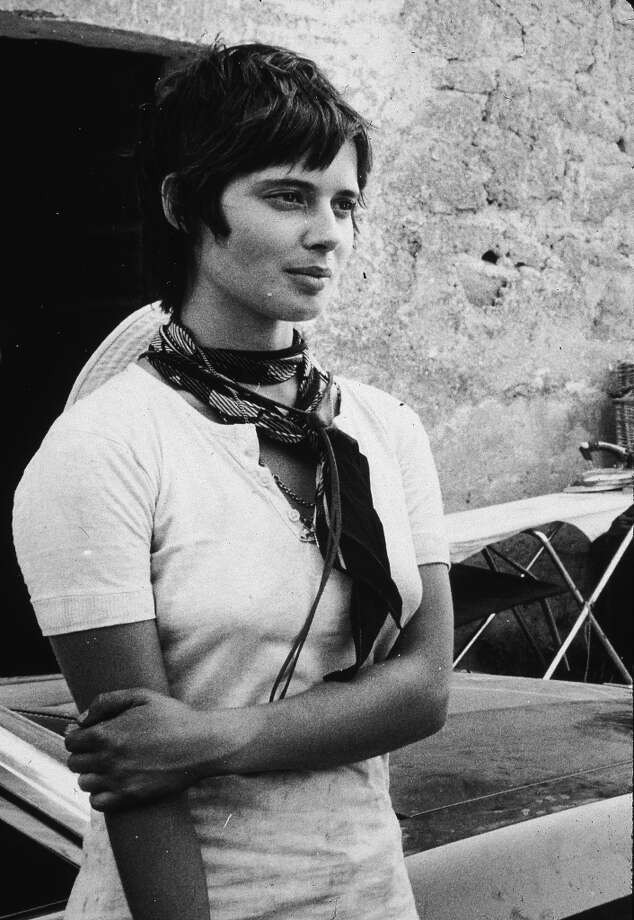 "August 1971, Italian-born actor and model Isabella Rossellini at age 19, in Rome on the set of her father, director Roberto Rossellini's film, ""Blaise Pascal."" Photo: Getty Images"