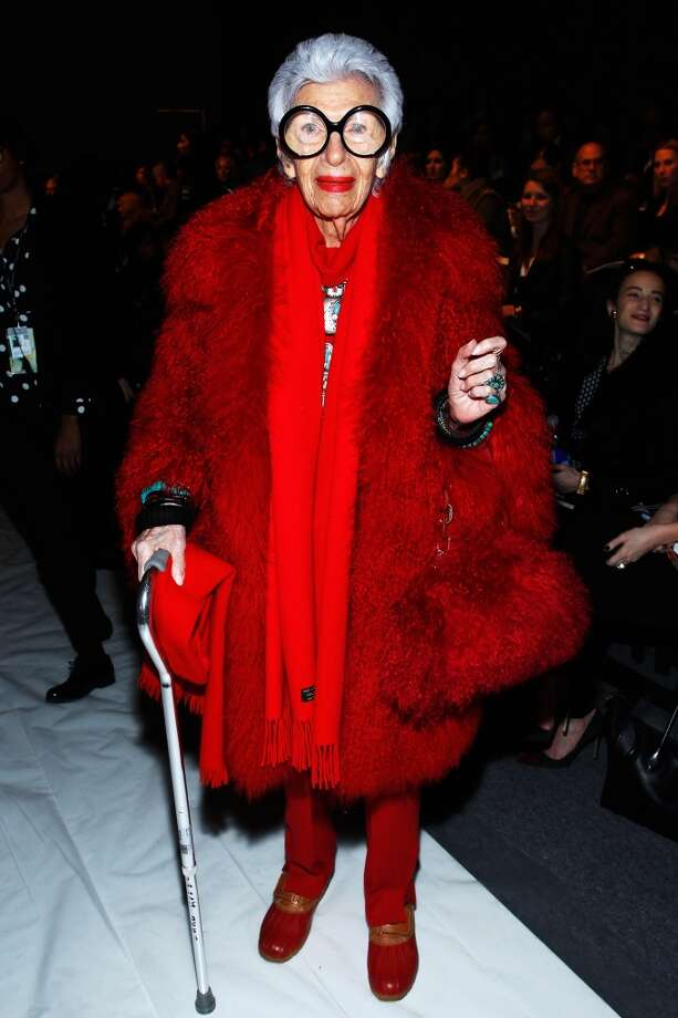 Iris Apfel at Lincoln Center on February 10, 2013 in New York City. Apfel was born in 1921. Photo: Joe Kohen