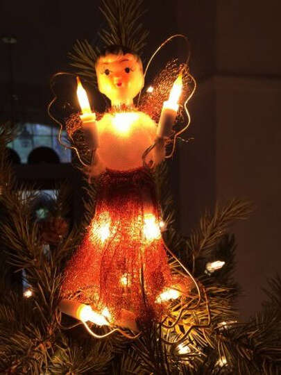 Lillian Shaver, Sugar Land: A picture of my tree topper, which has been on every Christmas tree sinc