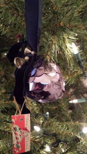 Kathy Kalberer, The Woodlands: My treasured ornament is over 50 years old. My maternal grandmother m