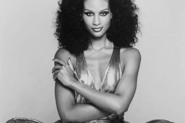 American actress and model Beverly Johnson in 1977.