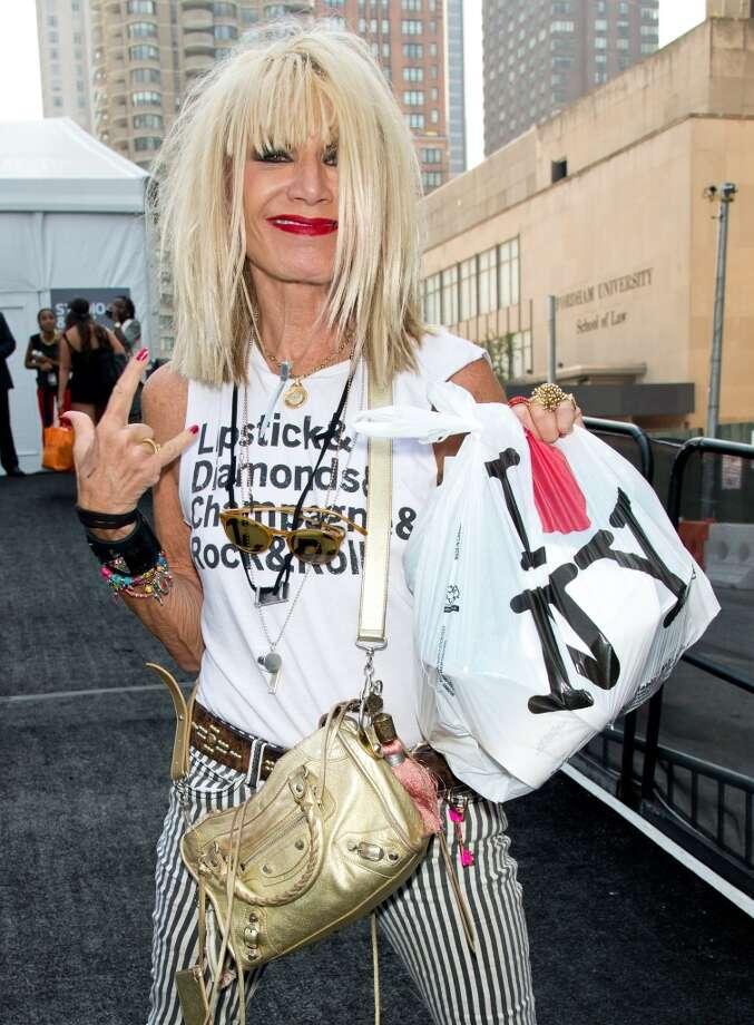 Betsey Johnson on September 11, 2013 in New York City. Johnson was born in 1942. Photo: Gilbert Carrasquillo, FilmMagic