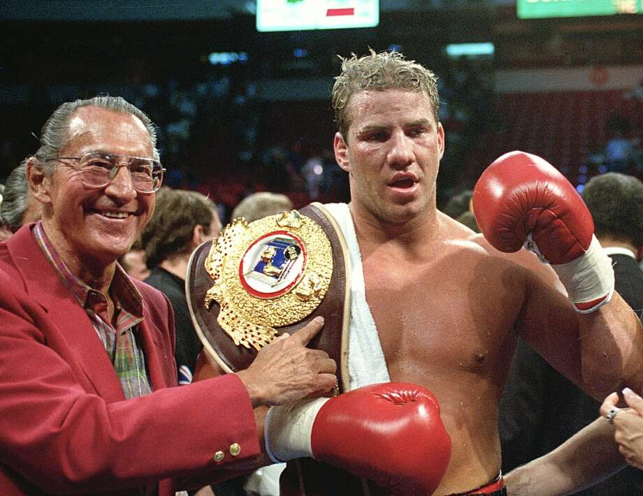 """Tommy Morrison Jan. 2, 1969 – Sept. 1, 2013The former heavyweight champion who gained fame for his role in the movie """"Rocky V."""" In 1993, Morrison beat George Foreman to win the World Boxing Organization heavyweight title. His last fight was in 2005, a loss to Lennox Lewis. He finished with a record of 48-3-1 with 42 knockouts. Photo: NICK UT, Associated Press"""