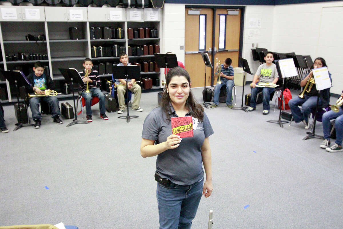 This is Christina Martinez-Benitez's second year as band director at Wessendorff Middle School in Rosenberg.