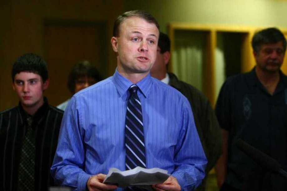 "Initiative promoter Tim Eyman is hit with big civil suit by Attorney General's office.  Much of it involves $308,165 in initiative contributions that Eyman put to his personal use.  Or as a signature gathering firm said just before the transfer:  ""The immediate goal is tog get you paid."" Photo: Joshua Trujillo, Seattlepi.com"