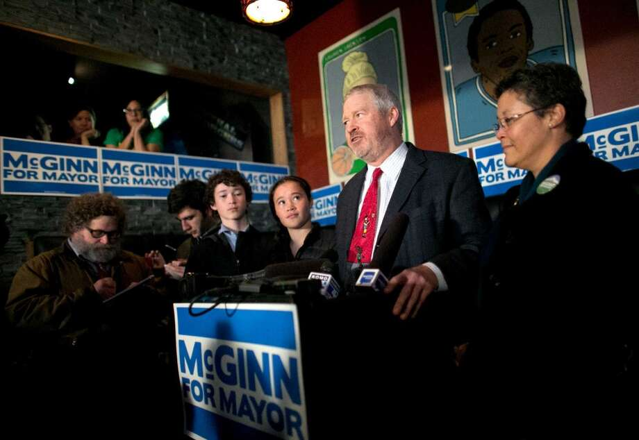 Mike McGinn became the third Seattle mayor in 12 years bounced out of office by the voters. It was close. Mid-campaign polls showed a 20-point Ed Murray lead. McGinn ended up with 47.5 percent of the vote, carrying low-income neighborhoods which for the first time felt attention from City Hall.  The mayor declined to cultivate the city's elites, faced unrelenting opposition from the Seattle Times' reactionary editorial page, and never recovered from trying to block the deep bore tunnel project. Politicians he alienated, like ex-Gov. Christine Gregoire, got their revenge. Photo: Joshua Trujillo, Seattlepi.com
