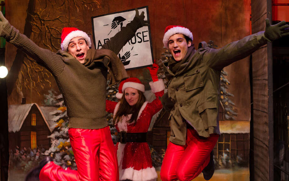 """Austin Allie (from left), Cierra Schusterick and Chris Gonzalez appear in a performance of """"White Christmas"""" at Cameo Theater. On this special day, a reader comments on the meaning of the season. Photo: Courtesy James Teninty / James Teninty Photography"""