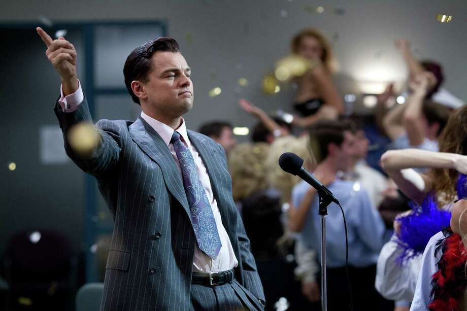 "Leonardo DiCaprio worked the power suit of the 1980s and '90s in his role as Jordan Belfort in ""The Wolf of Wall Street."" Photo: -- / © 2013 Paramount Pictures.  All Rights Reserved."