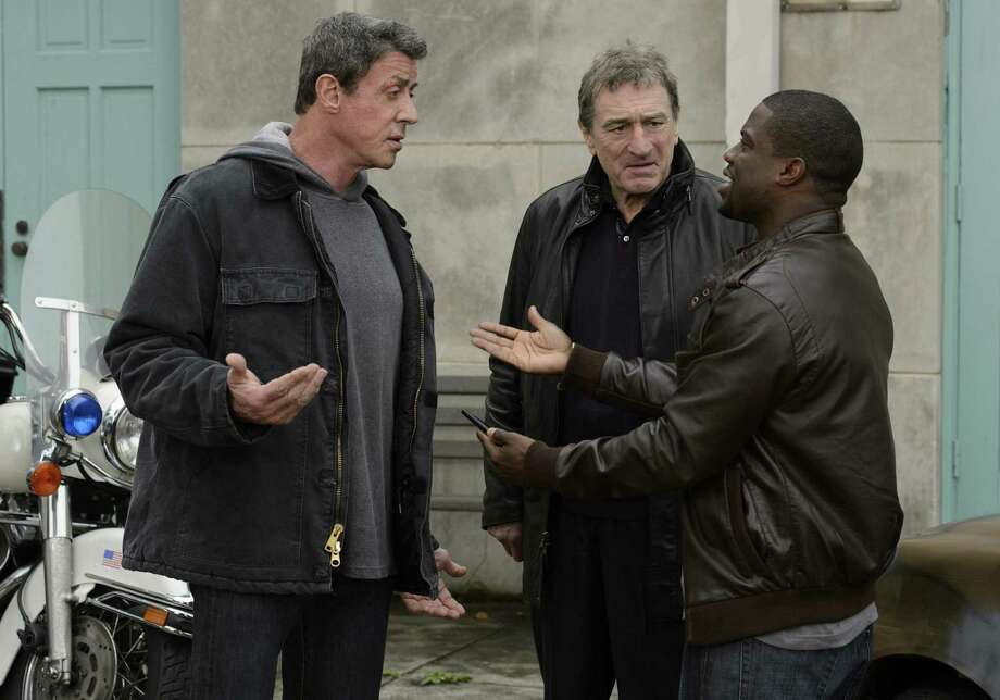 "Sylvester Stallone (from left) plays Henry ""Razor"" Sharp, Robert De Niro plays Billy ""The Kid"" McDonnen and Kevin Hart portrays Dante Slate Jr., the fight promoter, in ""Grudge Match."" Stalone was nominated not only for ""Grudge Match,"" but also for ""Bullet to the Head"" and ""Escape Plan."" Photo: Warner Bros. Pictures / MCT"