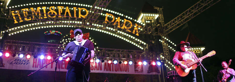 Los TexManiacs perform on the main stage at Celebrate San Antonio last year. The band will be back this year, scheduled for the La Villita stage at 9:30 p.m. Photo: Express-News File Photos / © 2012 San Antonio Express-News