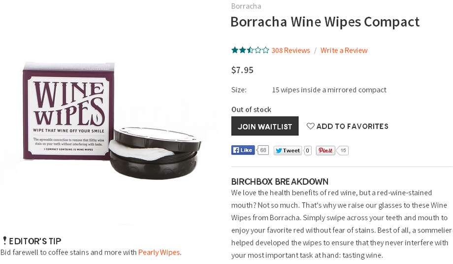 For your friend who loves wine a little too muchThese wipes do wonders for the wino who goes from sipping to sloppy quicker than most.