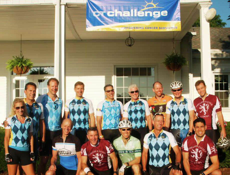New Canaan's Riders for Survivors pose for a picture. Photo: Contributed Photo / New Canaan News