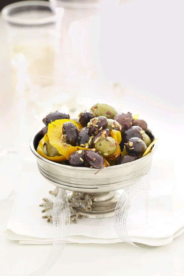 Recipe for Spiced Citrus Olives, from Good Housekeeping. Photo: Kate Mathis