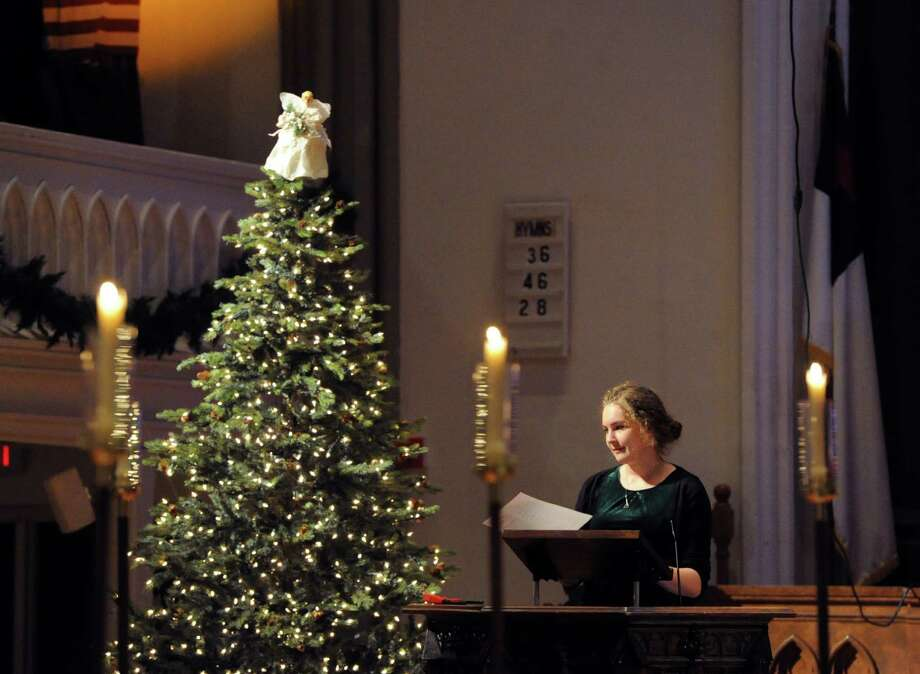 Christmas Eve service at the Second Congregational Church in Greenwich, Conn., Tuesday, Dec. 24, 2013. Photo: Bob Luckey / Greenwich Time
